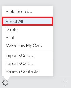 Choosing «Select All»