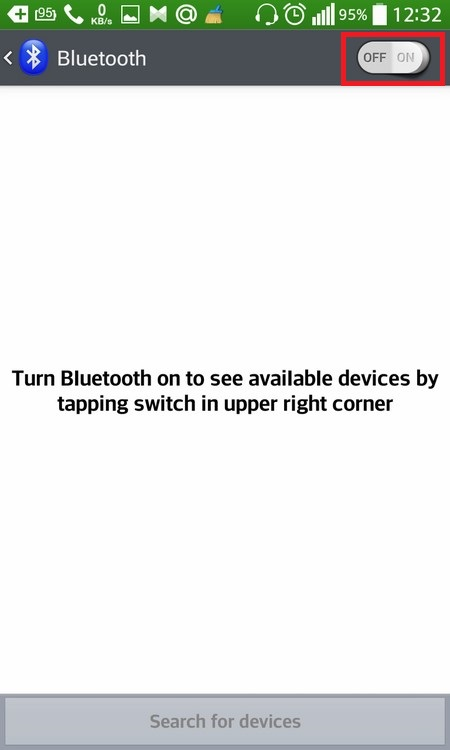 Activation Bluetooth