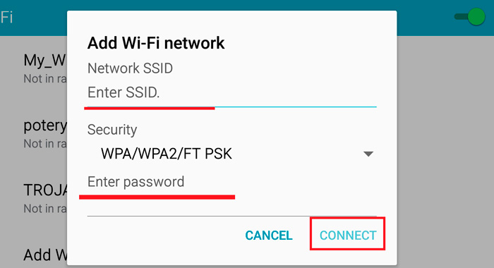Connection Setup on Android