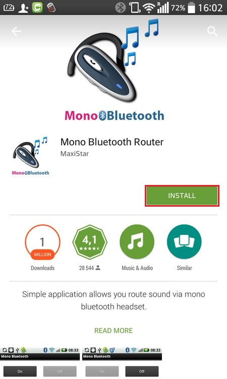 Google Play Bluetooth router