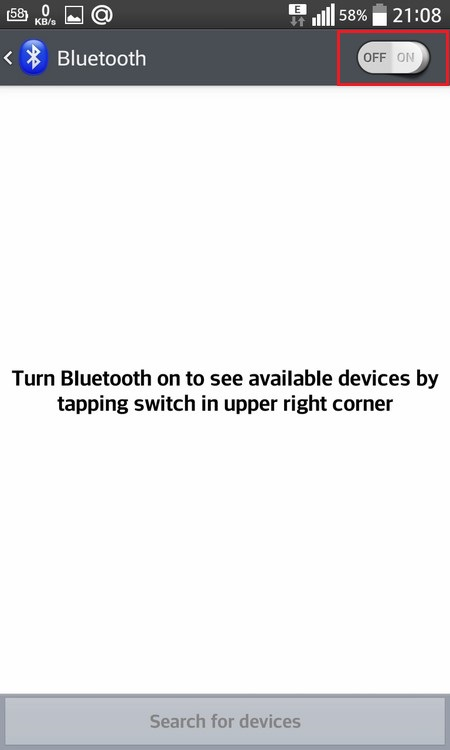 Turn Bluetooth on