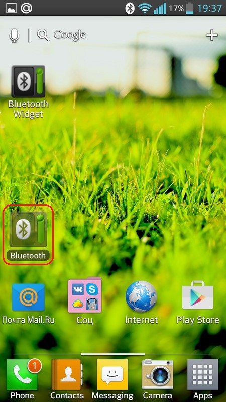 Bluetooth widget On