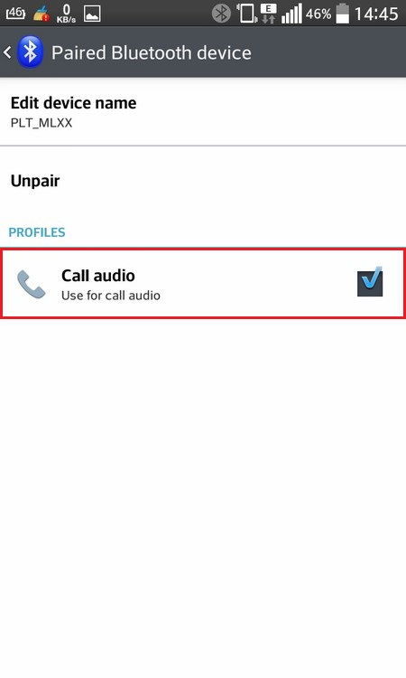 Call audio