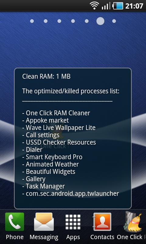 Liste of optimized processes